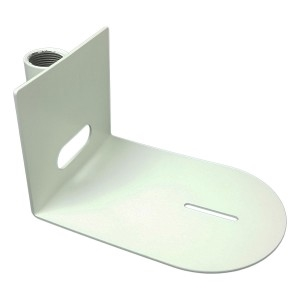 "Universal Small Ceiling Mount for use with 1"" Pipe Attachment (White)"