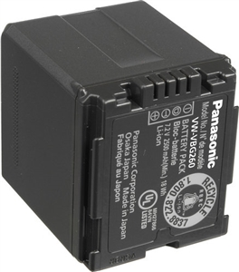 Panasonic VW-VBG260PP8 Rechargeable Lithium-Ion 7.2v 2640 mAh Battery Pack