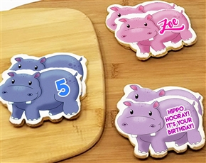 Hippo Sugar Cookies