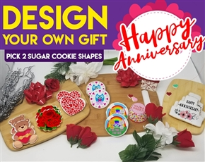Design an Anniversary Sugar Cookie Gift