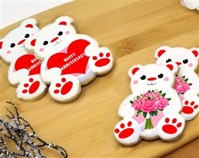 Anniversary Bear Sugar Cookies