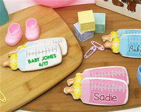 Baby Bottle Favor Sugar Cookies