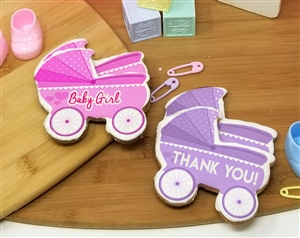 Baby Carriage Sugar Cookie Favors