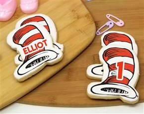Dr. Seuss Cat in the Hat Sugar Cookies