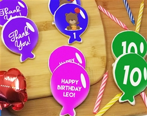 Birthday Balloon Sugar Cookies