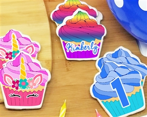 Cupcake Birthday Sugar Cookies