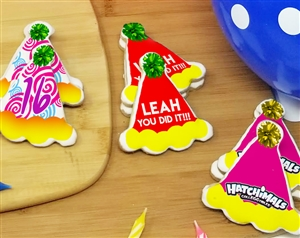 Party Hat Birthday Sugar Cookies