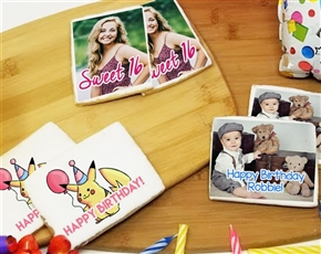 Rectangle Personalized Custom Photo Cookies Image Cookies Picture Cookies Gourmet Cookies