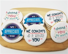 Remote Worker Appreciation Round Sugar Cookies