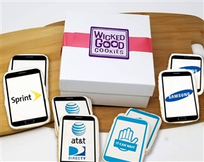 Smartphone Logo Sugar Cookie Gift Box