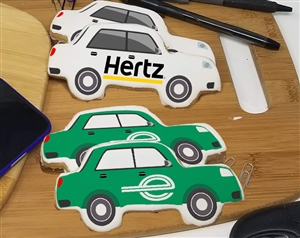 Car Logo Sugar Cookies