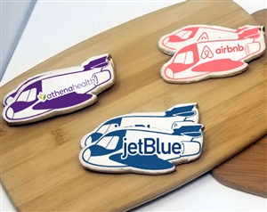 Airplane Jet Logo Sugar Cookies