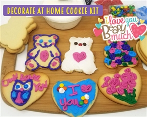 Decorate at Home Cookie Kit - Valentine's Day Hearts & Bears