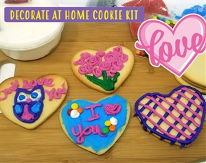 Decorate at Home Cookie Kit - Valentine's Day Hearts