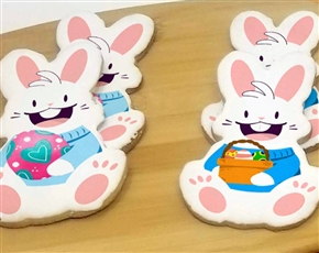 Bunny with a Basket Sugar Cookies