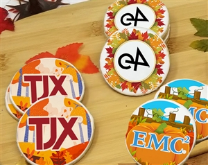 Round Fall Time Logo Sugar Cookies