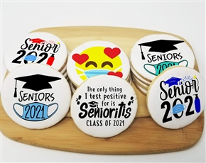 Seniors 2021 Silly Round Sugar Cookies