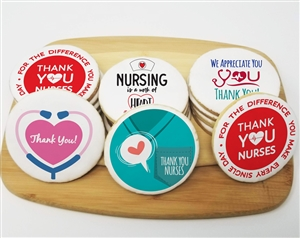 Thank You Nurses Week Round Sugar Cookies