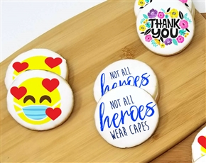 Healthcare Heroes Round Sugar Cookies