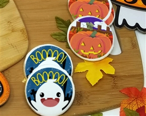 Creepy Creatures Round Sugar Cookies