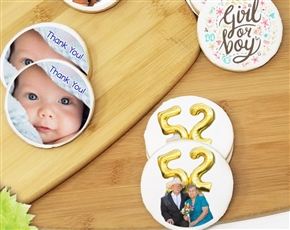 Round Custom Photo Sugar Cookies