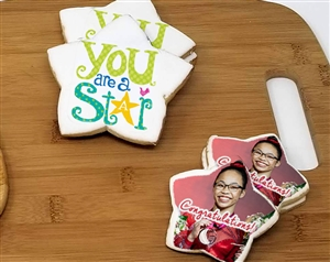Star Custom Photo Sugar Cookies