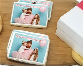 3x4 Rectangle Photo Cookie Gift Box