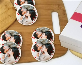 Round Photo Cookie Gift Box