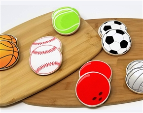 Round Sports Ball Sugar Cookies