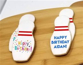 Bowling Theme Sugar Cookies