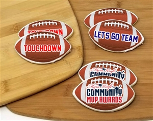 Football Theme Sugar Cookies