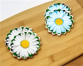Small Daisy Spring Time Sugar Cookies