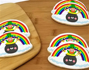 "St. Patrick's Day ""Over the Rainbow"" Cookie Favor"