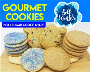 Design a Winter Gourmet Logo Cookie Gift