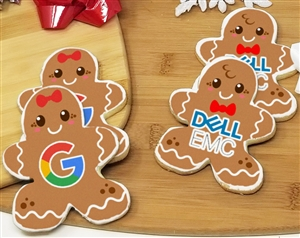 Gingerbread Man Logo Sugar Cookies