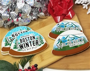 Snow Globe Logo Sugar Cookies