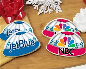 Winter Hat Logo Sugar Cookies