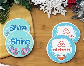 Winter Round Logo Sugar Cookies