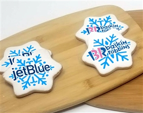 "3.5"" Big Snowflake Logo Sugar Cookies"