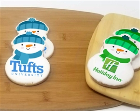 "4"" Big Snowman Logo Sugar Cookies"