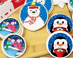 Winter Time Round Sugar Cookies