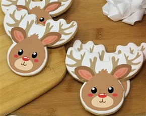 Reindeer Head Sugar Cookies