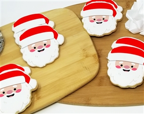Santa Head Sugar Cookies