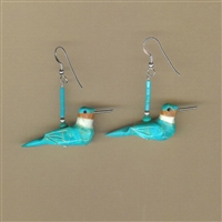 Turquoise Hummingbird Matching Earrings Kit