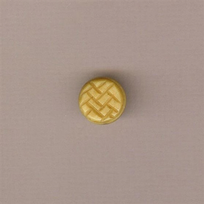 Bone Bead - Herringbone Pancake - 16mm
