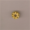 Bone Bead - Flat Round Open Weave - 8x18mm