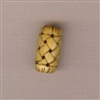 Bone Bead - Woven Barrel - 18mm
