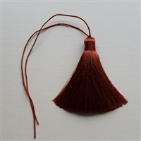 Photo of Pure Silk Terra Cotta Brown Tassel