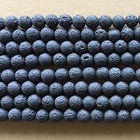 "Photo of 15"" strands of 8mm Black Lava Beads"