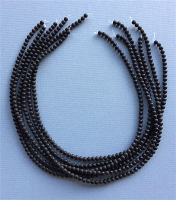 4mm Matte Finish Black Onyx Beads